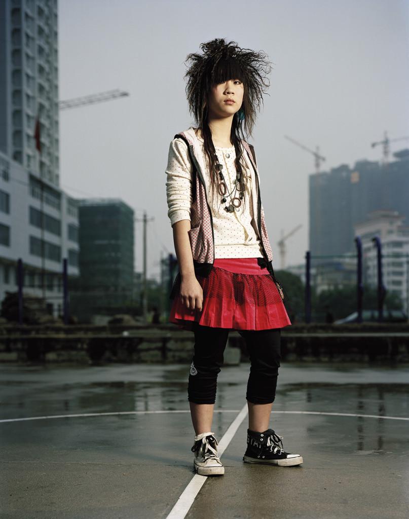 Zhang Wenzhu (18) Sales person in fashion shop. Anxi, Fujian.