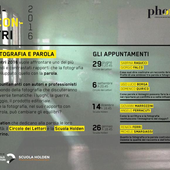 INCONTRI 2016 – FOTOGRAFIA E PAROLA (ITA | ENG)