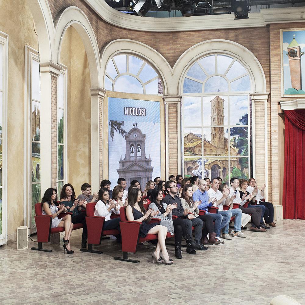Roma, maggio 2013. Il pubblico del programma televisivo
