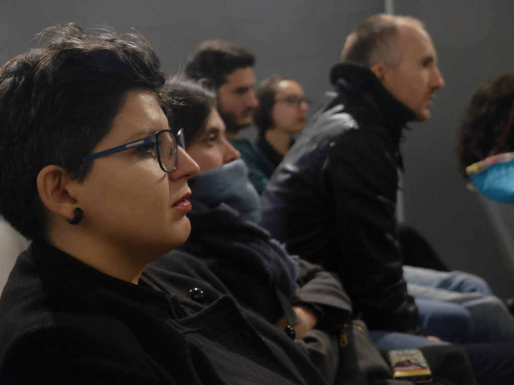 Tha audience at the event organized by NoPhoto, Phom and Balter books. © Marco Benna / Phom