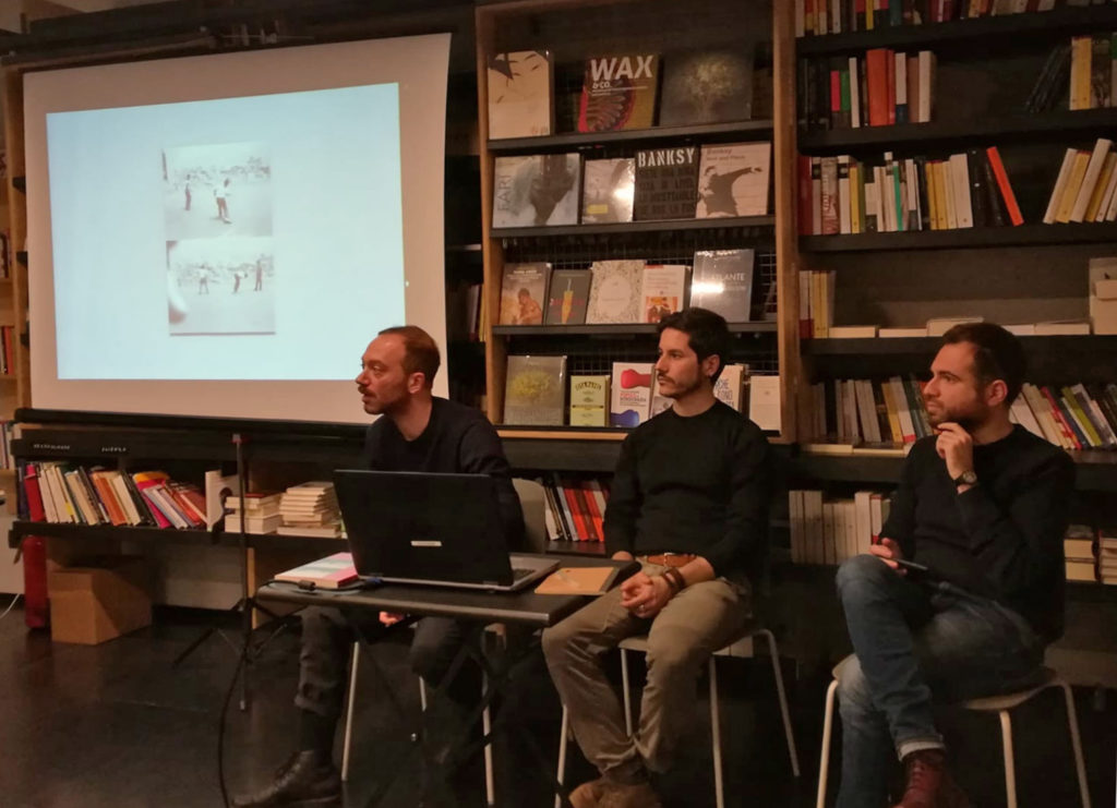 Phom incontra Yard Press: Achille Filipponi, Marco Marucci, Gabriele Magazzù.