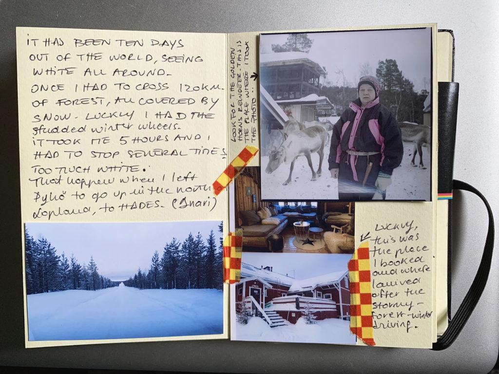 Scansioni del taccuino di appunti che Ilaria ha ricreato in inglese (per essere esposto durante una mostra in Texas), sulla falsariga di quello fatto durante i viaggi. © Ilaria Di Biagio
