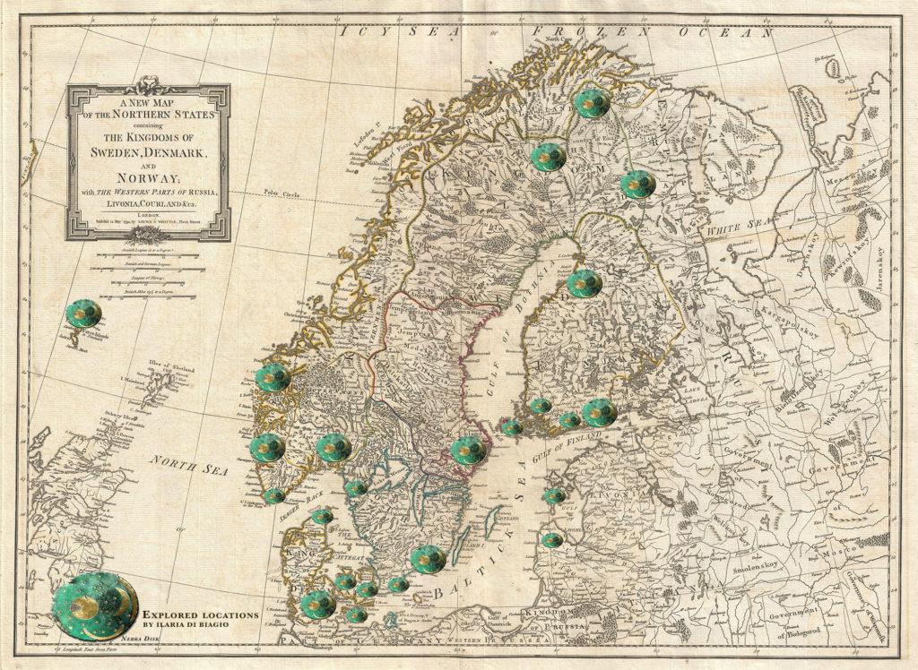 La mappa dei luoghi visitati da Ilaria durante il suo viaggio © Ilaria Di Biagio