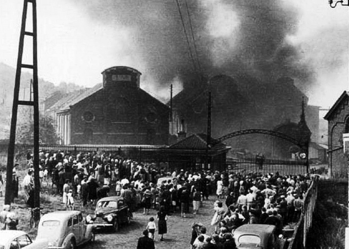 Incendio di Marcinelle, 8 agosto 1956, Biblioteca fotografica, Bois du Cazier Marcinelle